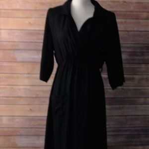 Dresses & Skirts - Black Dress With Pockets Sheer Size XL